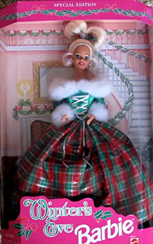 WINTERS-EVE-BARBIE-DOLL-w-Faux-FUR-Trim-Gown-SPECIAL-EDITION-1994-by-Mattel