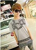 (フルールドリス)Fluer de lis エスニックトップス グレー ブラック 柄 カットソー トップス tシャツ シャツ インナー カジュアル アパレル メンズ ファッション 服 185-1092