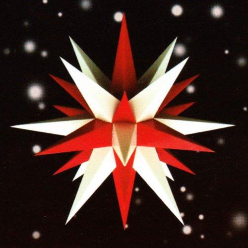 Weihnachtsstern, Adventsstern, original Herrnhut, für Außen, Kunststoff, 68 cm, Stern, Sterne, Weihnachtssterne, Adventssterne, original Herrnhuter Stern, rot/weiß