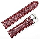 Teju Lizard Grain Watchband Havana 22mm Watch band - by deBeer