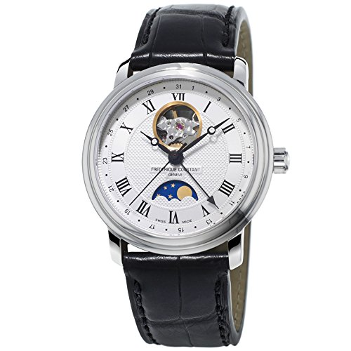 Frederique Constant Classics Moonphase FC-335MC4P6 40mm Automatic Stainless Steel Case Black Leather Anti-Reflective Sapphire Men's Watch
