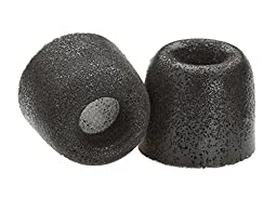 Comply Premium Replacement Foam Earphone Earbud Tips - Isolation Plus Tx-200 (Black, 3 Pairs, Medium)