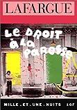echange, troc Paul Lafargue - Le Droit à la paresse