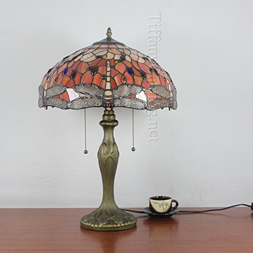 IXTT European garden stained glass Tiffany Dragonfly desk lamp – Dragonfly Desk Lamp