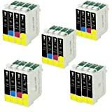 4 Full Sets + 4 Extra Black = 20 Epson T1285 Compatible Printer Ink Cartridges for Epson Stylus S22 SX125 SX130 SX230 SX235W SX420W SX425W SX430 BX305F BX305FW SX440W SX435W SX445W SX438W Printers (8x Black, 4x Cyan, 4x Magenta, 4x Yellow) - Same Day Pos