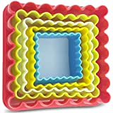 Best Ever Two Sided Square Cookie Cutters Set (5 pc) from Best In All. Perfectly designed premium quality cookie cutter set comes in different sizes and assorted colors. Add more fun to your baking now!