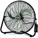 Lasko Stanley 655650 20-Inch High Velocity Floor or Wall mount Fan, Black