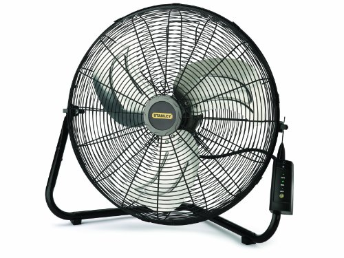 Lasko Stanley 655650 20-Inch High Velocity Floor or Wall mount Fan, Black (Wall Mount Fan 20 Inch compare prices)