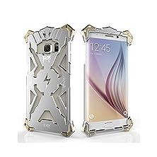 buy Samsung Galaxy S6 Edge+ Case, Mattaxly Thor Shark Series [Shockproof] [Hard Metal Bumper] Case Cover For Samsung Galaxy S6 Edge+ (Silver)