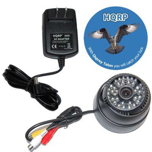 Hqrp Dome Indoor Cctv Security Surveillance Camera And Ac Adapter For Zmodo Dvr-H8118Uv Vr-H9008Uv Dvr-H9108V Dvr-H9108Uv Dvr-H9008Ul Plus Hqrp Coaster
