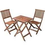 山善(YAMAZEN) ガーデンマスター フォールディングテーブル&チェア(3点セット) FWTS-60