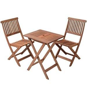 山善(YAMAZEN) ガーデンマスター フォールディングテーブル&チェア 3点セット FWTS-60