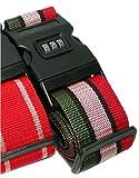 FJK 鍵付きスーツケースベルトB色(グリーン、ピンク、レッド混色)