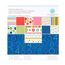 Martha Stewart Crafts Designer Paper Pad 12'' X 12'' Kids By The Package