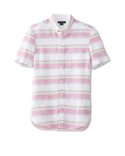 French Connection Men's Fluro Linen Button-Up Shirt