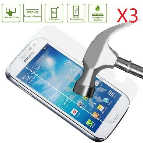 EVERMARKET Premium Tempered Glass 9H-Hardness Screen Protector Flim for Samsung Galaxy Grand Prime SM-G530H SM-G530F SM-G530AZ - 3 Packs
