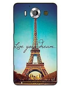 MobileGabbar Nokia Lumia 950 Back Cover Plastic Hard Case