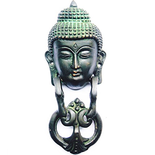 Aakrati-Metal-Door-Knocker-Of-Gautam-Buddha-Brown