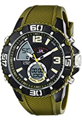 U.S. Polo Assn. Sport Men's US9481 Analog-Digital Display Analog Quartz Green Watch