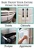 Pinksee-Child-Safety-Locks-For-Baby-Proofing-Cabinets-Drawers-Appliances-Toilet-Seat-Fridge-Oven-and-more-No-DrillingUses-3M-Adhesive-with-Adjustable-Strap-and-Latch-System-6-Pack