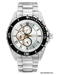 Timex E Class Multi Function Chronograph Silver Dial Men's Watch TI000P50000