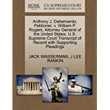 Anthony J. Debernardo, Petitioner, v. William P. Rogers, Attorney General of the United States. U.S. Supreme Court...