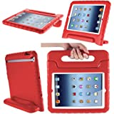 i-Blason Apple iPad Air/iPad 5 ArmorBox Kido Series Light Weight Super Protection Convertable Stand Cover Case (iPad5-Kido-Red)