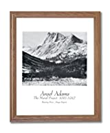 Ansel Adams River B/W Photo Landscape Home Decor Wall Picture Oak Framed Art Print
