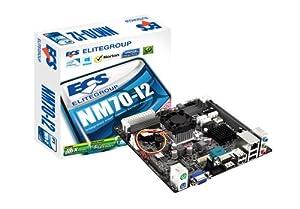 ECS Elitegroup Celeron 1037 Dual Core Processor Mini ITX DDR3 1333 BGA 1023 Motherboard NM70-I2 (1.0)