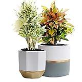 White Ceramic Flower Pot Garden Planters 6.5