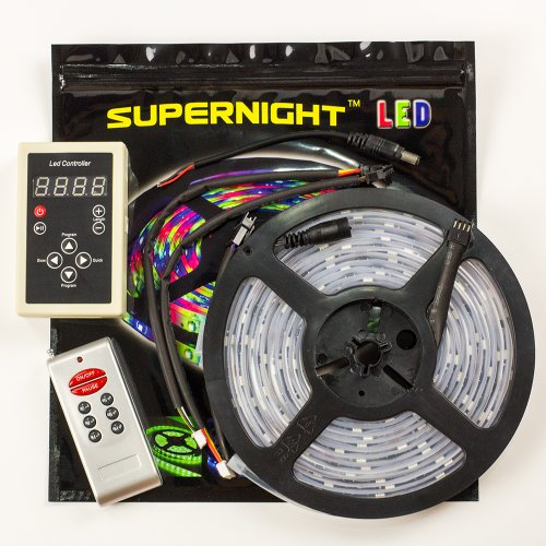 SUPERNIGHT (TM) 5M 5050 RGB Dream Beautiful Color 6803 IC LED Strip Light Waterproof & 133 Change RF Rmote (Dream Color Led compare prices)