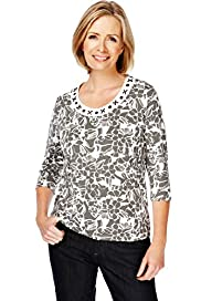 Classic Collection Floral & Bead Top