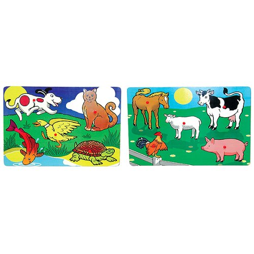 Cheap Fun Farm and Pets Peg Puzzle Bundle (B0007VWE10)