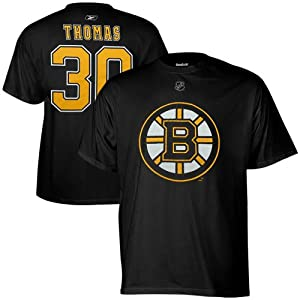 Reebok Boston Bruins Tim Thomas Youth Player Name & Number T-Shirt Extra Large