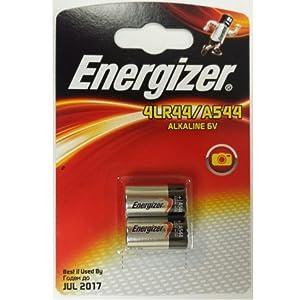 Twin Pack 2 X Energizer A544 4LR44 4G13 L1325 6V Alkaline batteries
