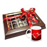 Valentine Chocholik Belgium Chocolates - Have A Wow Chocolate Box With Love Mug