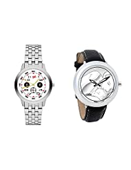 Gledati Men's White Dial And Foster's Women's White Dial Analog Watch Combo_ADCOMB0001818