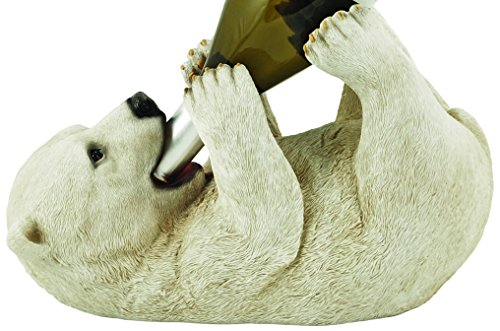 Foster & Rye by TWINE Polar Bear Cute, Giftable, Wine Gift for Enthusiast, Lover or Collector Wine Bottle Holder Rack