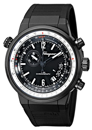 Salvatore Ferragamo Men's FQ2020013 F-80 Black Ion-Plated Stainless Steel Watch image