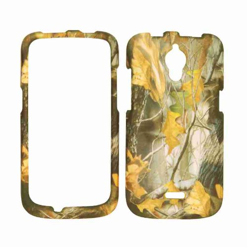 Cell Armor Snap-On Cover For Huawei Vitria H882L - Retail Packaging - Hunter Series With Dry Leaves