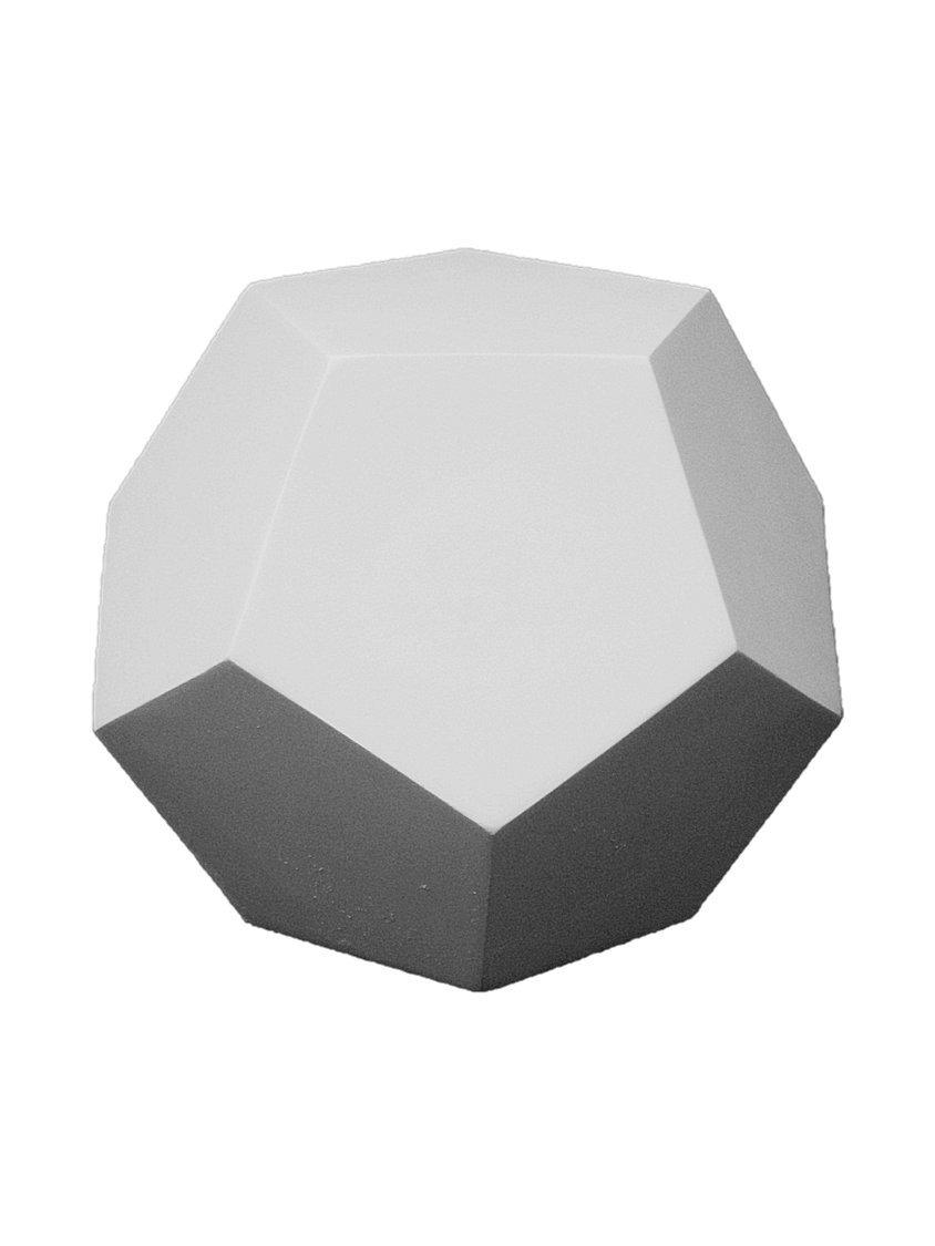 石膏像 g-819 几何形体 正十二面体 h.14.5cm