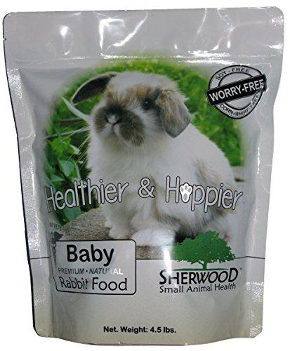 Sherwood-Baby-Rabbit-Food-Soy-Corn-Wheat-free-45-lb-Vet-Used