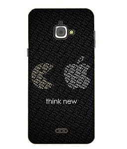 Case Cover Funny Logo Printed Black Hard Back Cover For InFocus M350