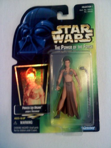 "Star Wars Power of the Force Green Card Hologram 3 3/4"" Princess Leia Organa as Jabba's Prisoner Action Figure"