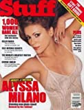 STUFF Magazine December 2001 ALYSSA MILANO, George Carlin
