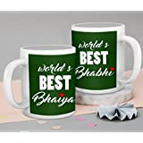 Tied Ribbons Bhaiya BhabhiGift Set Of 2 Printed Coffee Mug(325 Ml, White)