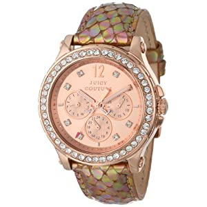Juicy Couture Women's 1901065 Pedigree Bronze Metallic Leather Strap Watch