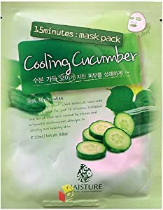 Naisture 15 Min. Collagen Essence Facial Mask Sheet Pack - Cooling Cucumber 10pk (e 23ml)