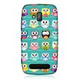 Head Case Designs Kawaii Green Owl Patterned Back Case Cover for Nokia Lumia 610