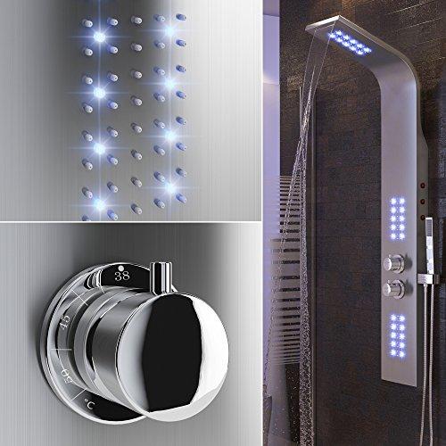 Duscharmatur Test : . Thermostat Armatur Regendusche Duscharmatur Wasserfall Duschs?ule